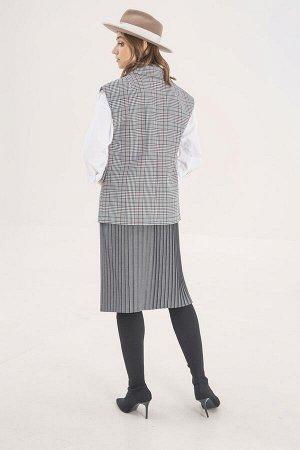 Юбка миди Рост: 164 см. Состав ткани: пэ-50% па-45% спандекс-5% Юбка женская, нарядная, из текстильной плиссированной ткани, длиной ниже линии колен. Юбка без боковых швов, с застежкой на потайную мол