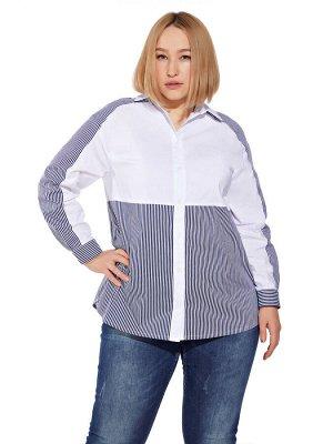 Блузка 2100 Полоска сине-белая