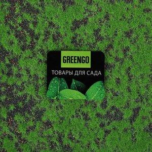 Мох искусственный, декоративный, полотно 1 ? 1 м, зелёный на чёрном
