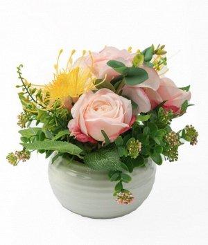 """Цветок в горшке """"Rayne"""" Floox, 14,5х14,5х21 см, цв.мультиколор, комбинированные материалы"""