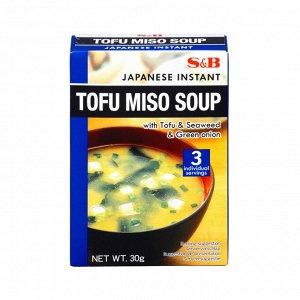 Суп S&B тофу-мисо быстрого приготовления 3 порции, 30г, к/к