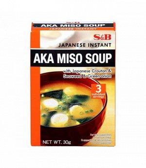 Суп S&B тофу-мисо острый быстрого приготовления 3 порции, 30г, к/к