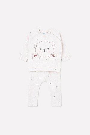 Комплект(Осень-Зима)+baby (св.бежевый меланж(белый мишка))