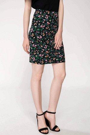 Мини юбка в цветочек