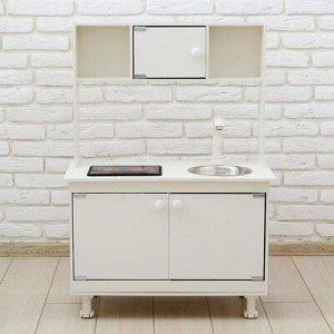 Игровая мебель «Кухонный гарнитур», световые и звуковые эффекты, цвет белый, интерактивная панель