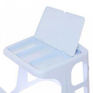 Стол-парта с аппликацией, цвет голубой