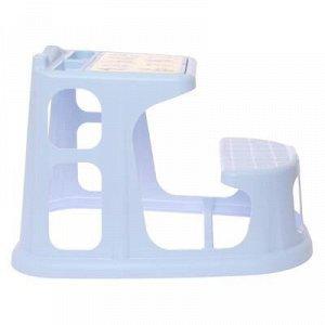 Стол-парта детская с аппликацией, цвет голубой