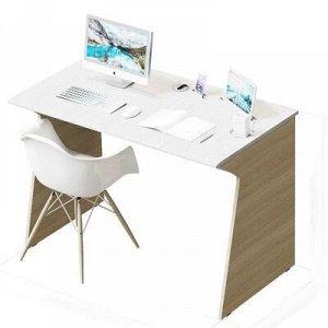 Стол Отличник, 1100х600х750, Дуб сонома/Сандал белый, без гнезда USB