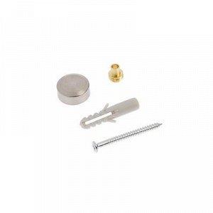 Полкодержатель с декоративной накладкой, d=16 мм, цвет стальной, 4 шт.