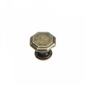 Ручка кнопка LIGHT РК034AB, цвет бронза