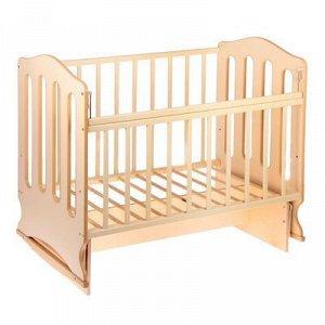 Детская кроватка «Чудо» на качалке с поперечным маятником, цвет бежевый/слоновая кость