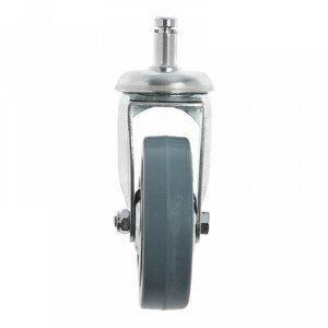 Колесо для тележек крепление болтовое, d=75, серая резина