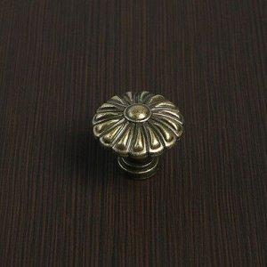 Ручка кнопка VINTAGE 012, цвет бронза