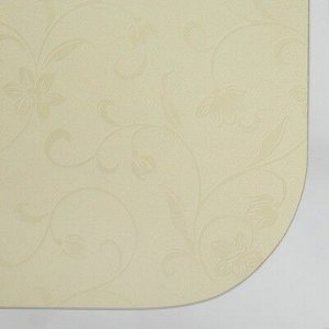 Стол ломберный 790(1180)х590х750, хром/пластик бежевые цветы