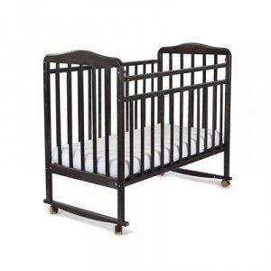 Кровать детская Митенька (опуск.планка ,колеса, качалка, венге)