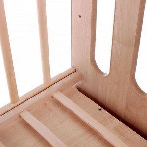 Кровать детская Чудо маятник с ящиком со стопором (бежевый-береза) (1200х600 )
