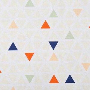 Матрас на шезлонг Треугольники, 55?190+2 см, репс с пропиткой ВМГО, 100% хлопок
