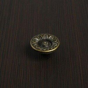 Ручка кнопка VINTAGE 010, цвет бронза