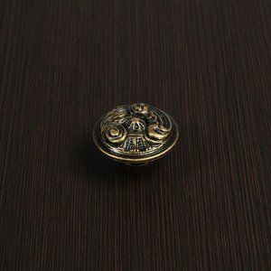 Ручка-кнопка VINTAGE 007, цвет бронза