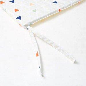 Подушка на стул уличная Треугольники, 45?45 см, репс с пропиткой ВМГО, 100% хлопок