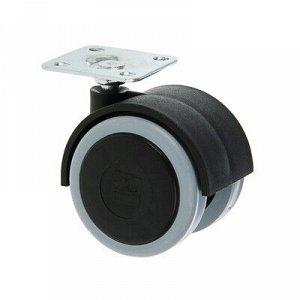 Колесо мебельное ОК 1 м/х (ОКП50М/Х), d=50 мм, черное