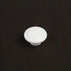 Ручка мебельная пластмассовая, d=35, белая