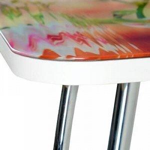 Стол прямоуголный с фотопечатью Орхидея в воде 1000х600х757 столешница стеклянная