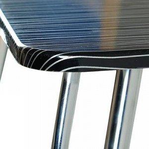 Стол 1100х700х746 страйп черный столешница МДФ