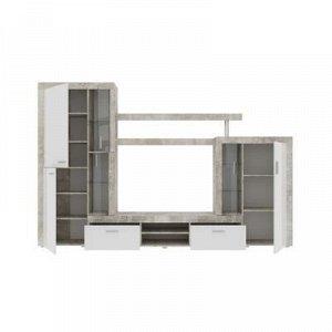 Гостиная Монтана СТ1, 2985х434х1935, Atelier/ Белый глянец МДФ