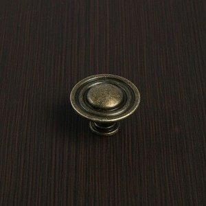 Ручка кнопка VINTAGE 013, цвет бронза