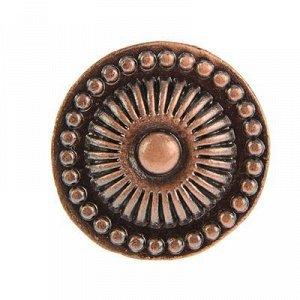 Ручка-кнопка 14.133.30 713L, цвет медь
