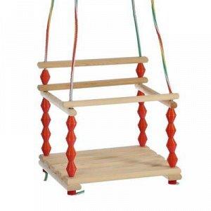 Качели детские подвесные, деревянные, сиденье 33?27см