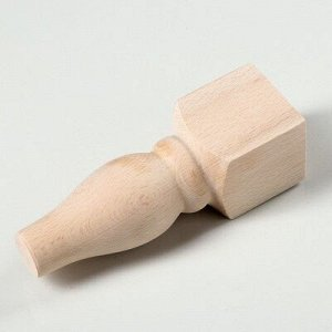 """Ножка мебельная """"Классическая"""", некрашеная, L-50 мм , W-50 мм, H-160 мм"""