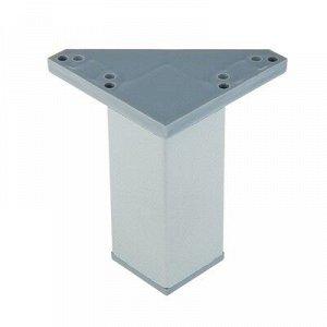 Опора стационарная, квадратная ОСК - 100 К, Н=100 мм, цвет матовый хром