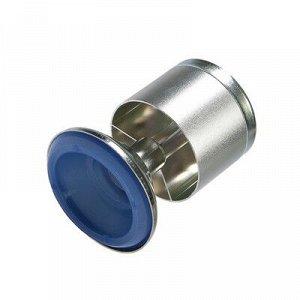 Опора мебельная, регулируемая, алюминиевая, D=50 мм, h=80 мм, цвет матовый хром