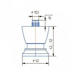 Опора регулируемая ОР 41-К, Н=40 мм, цвет матовый хром