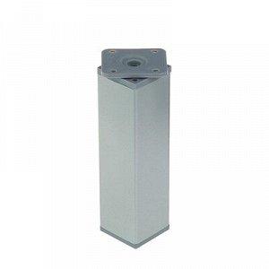 Опора регулируемая, квадратная, H 150 мм, цвет матовый хром