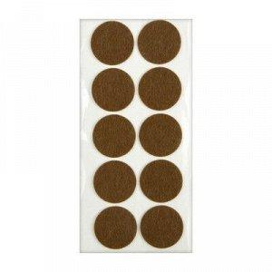 Подпятник войлочный d=45 мм, 10 шт., коричневый
