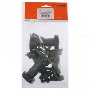 Опора мебельная, регулируемая, с клипсой, 100 мм, черная, 4 шт.