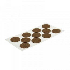 Подпятник войлочный d=40 мм, 11 шт., цвет коричневый
