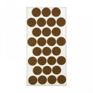 Подпятник войлочный d=28 мм, 28 шт., коричневый