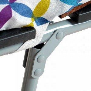 """Раскладушка """"Ювента 600"""", 160 х 70 х 30 см, до 80 кг, с ламелями, ткань МИКС"""