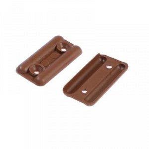 Подпятник пластмассовый, светло-коричневый, 8 шт.