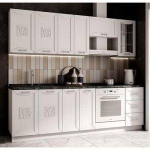 Кухня Соната 2400, Белый матовый МДФ