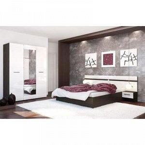 Тумба прикроватная к кровати Ненси. 400x900x440, Венге/Белый глянец