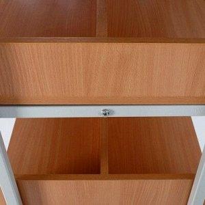 Стеллаж библиотечный двухсторонний, 900х520х1900