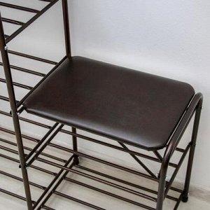 Банкетка-этажерка для обуви «Дубль», 5 полок, цвет медный антик