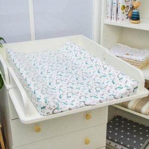 Доска пеленальная Polini Kids Единорог Радуга, для детскиx кроватей, голубой