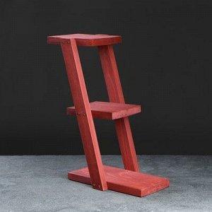 """Полка деревянная """"Лесенка"""", цвет красный, 35 х 16 х 40 см"""