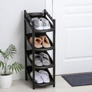 Этажерка для обуви «Узккая», 4 яруса, 41,5?25,5?81 см, цвет МИКС